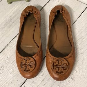 Tory Burch Brown Leather Reva Womans Size 11M